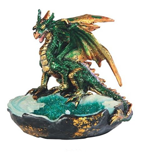 StealStreet SS-G-71427 Fierce Green Dragon Posing Statue, 3.75