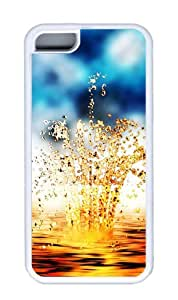 Customized Case Goldwater rhythm TPU White for Apple iPhone 5C
