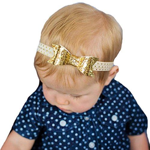 (Miugle Baby Girl Gold Bows and Headbands)