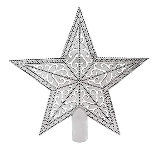 EASTERUP Christmas Tree Topper-Christmas Tree Star Topper -Tree Topper -Christmas Tree Ornaments-8 inch Christmas Tree Ornaments Xmas Tree Toppers Decoration