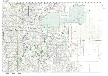 Amazon.com: ZIP Code Wall Map of Denver, CO ZIP Code Map Not ...