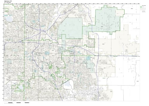 ZIP Code Wall Map of Denver, CO ZIP Code Map Laminated available in Denver Colorado Zip Code Map on