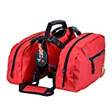 Dog Hiking Backpack Waterproof Hound Saddle Bag for Service Dog Travel Camping Hiking Training,Rucksack with 2 Removable Bags for Carrying Treats, Poop Bags and a Small First Aid Bag for Large Breeds