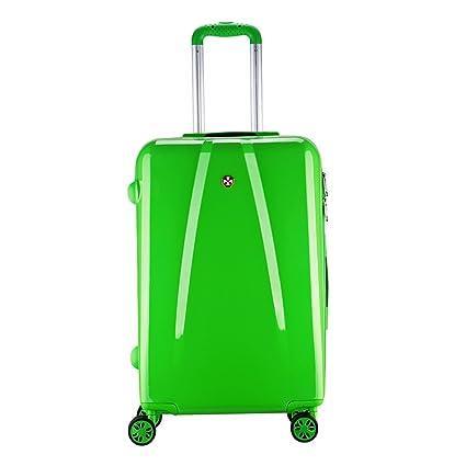 maleta cabina 4 ruedas equipaje rigida barata Ligero ABS+PC equipaje viaje 20096 Partyprince (verde)