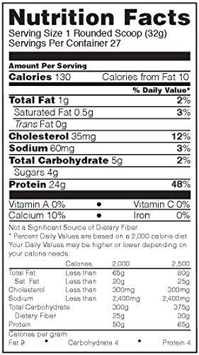 OPTIMUM NUTRITION GOLD STANDARD 100 Whey Protein Powder, Naturally Flavored Vanilla, 1.9 Pound