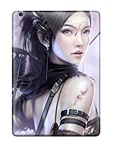 Premium Fantasy Archer Girl Heavy-duty Protection Case For Ipad Air