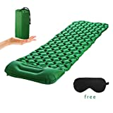 CANGLANG Camping Sleeping Pad-Up to 300LB NoLeaking,with Waterproof and Built-In Pillow Sleeping Pad for Camping