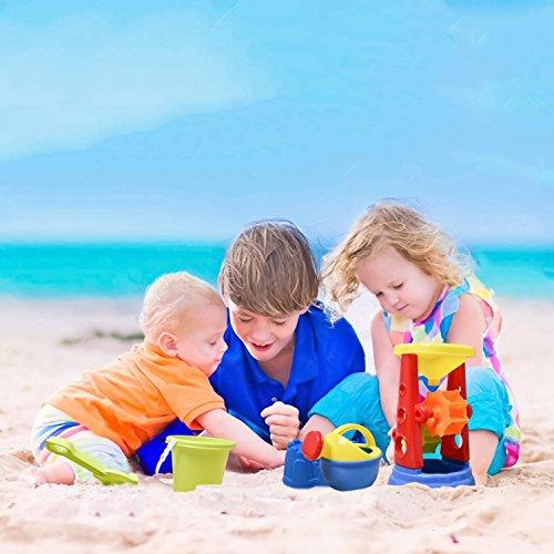 19 PCs Kids Beach Sand Toys Set Sand Water Wheel, Beach Molds, Beach Bucket Beach Shovel Tool Kit, Sandbox Toys Toddlers