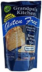 Whether you are hungry for a good piece of bread, a delicious pizza crust or great cinnamon rolls grandpa's kitchen bread/pizza mix will satisfy that hunger. Our mix is formulated from the perfect combination of flours to make delicious bread...