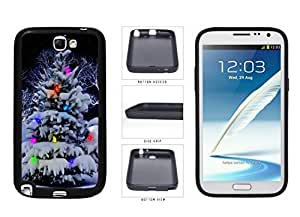 Colorful Winter Christmas Tree TPU RUBBER SILICONE Phone Case Back Cover Samsung Galaxy Note II 2 N7100