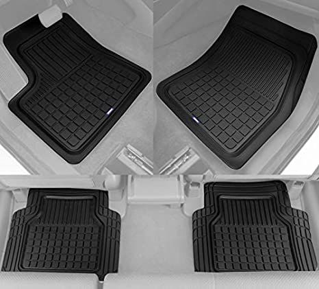 Suv Floor Mats >> Solid Pro Rubber Car Floor Mats Heavy Duty Plus Liners For Auto Suv Truck Car Van 4 Piece Set Thick Odorless All Weather Black