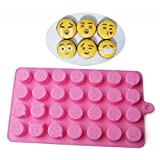 New 2016 Silicone 28 Emoji Chocolate Mold Cake Icy Fondant Sugar Jelly Moulds