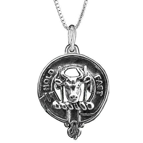 MacLeod (Harris) Scottish Clan Crest Pendant - Sterling Silver (Crest Pendant Sterling Silver Jewelry)