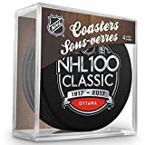 Inglasco NHL N/A NHL 100 Classic Puck Coasters Packpuck Coasters Pack, White, One Size
