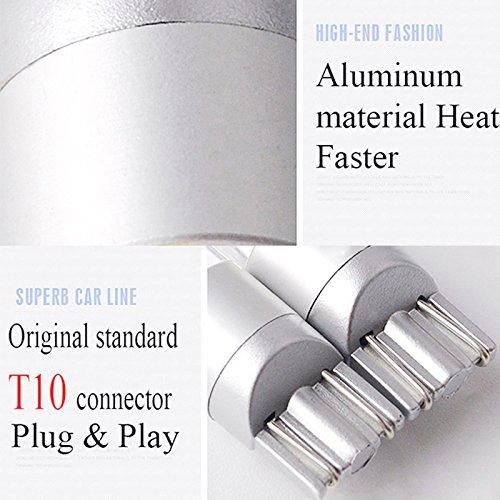 SODIAL 2 Pcs W5W T10 2 SMD 3030 LED Ampoules Super Blanc Brillant pour la Course de Jour de Voiture a lexterieur Ampoule de Feux 12V Eclairage de la Plaque dimmatriculation Lampe-Signal
