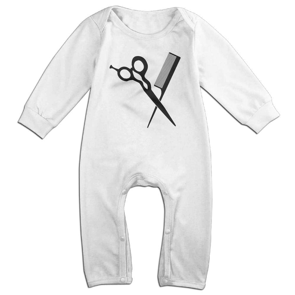 UGFGF-S3 Hair Stylist Tools Clipart Long Sleeve Infant Baby Bodysuit for 6-24 Months Bodysuit