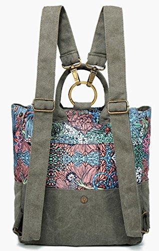 Keshi Leinwand Cool Damen accessories hohe Qualität Einfache Tasche Schultertasche Freizeitrucksack Tasche Rucksäcke Mehrfarbig 2 giRrYeQSr