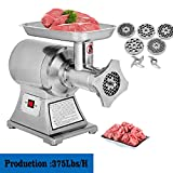 Happybuy 1 HP/750W Meat Grinder Stainless Steel 193/225 RPM Electric Meat Grinder Commercial Sausage Stuffer Maker Maker for Industrial and Home Use (750W AL-22)