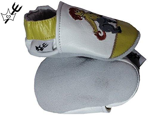 Chaussure Chausson Pour Bébé Garçon Fille En Cuir Souple Fabriqué à La Main Chaussures Chaussons Pour Nouveau-né Motif Astro Sagitaire PRINCESSES & DIABLOTINS®