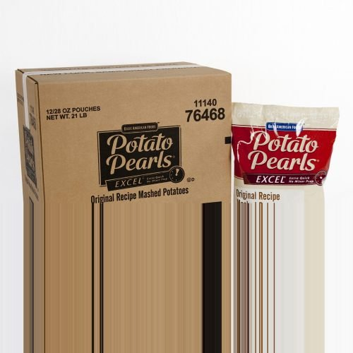 Excel Potato Pearls - 28 oz. pouch, 12 pouches per case by Basic American Foods