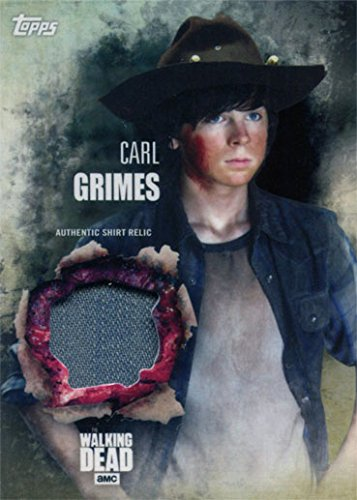 Carl Costumes (Walking Dead Season 5 Costume Chase Carl Grimes Shirt Relic)