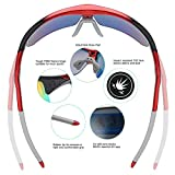 DUCO Polarized Sports Cycling Sunglasses for Men