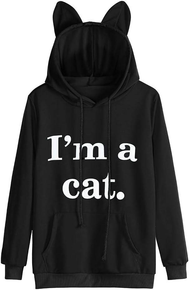 Sudaderas Mujer Tumblr sin Capucha y Impresión del Im a Cat ...