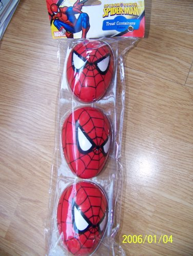 Marvel Spiderman Easter Egg Treat Containers - pack of 3