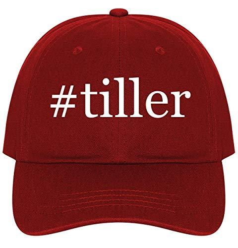 #Tiller - A Nice Comfortable Adjustable Hashtag Dad Hat Cap, Red