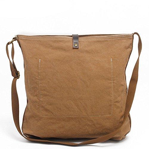 Sunbobo Bolso de hombro de la lona de la capacidad grande retro simple de la prenda impermeable del bolso de hombro de la lona