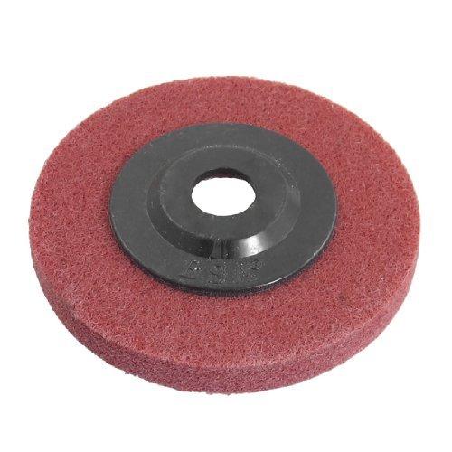 Red Biegen 10cm 4 Dia Nylon Scheuer Schleifen Polieren Pad
