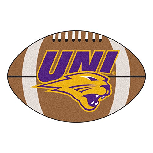 Northern Iowa Football Rug - FANMATS NCAA University of Northern Iowa Panthers  Nylon Face Football Rug