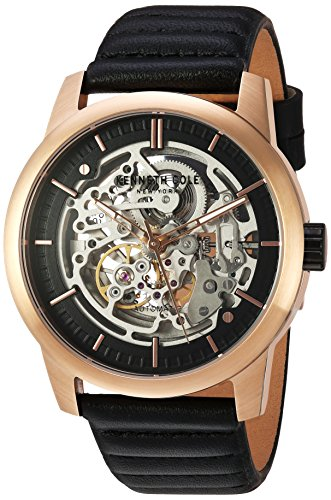 Kenneth Cole Skeleton Watch (Kenneth Cole New York Men's ' Automatic Stainless Steel and Leather Dress Watch, Color:Black (Model: 10030789))