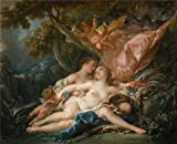 The Perfect Effect Canvas Of Oil Painting 'Francois Boucher,Jupiter In The Guise Of Diana,and The Nymph Callisto,1759' ,size: 24x29 Inch / 61x75 Cm ,this Replica Art DecorativePrints On Canvas Is Fit For Game Room Decoration And Home Decoration And Gifts