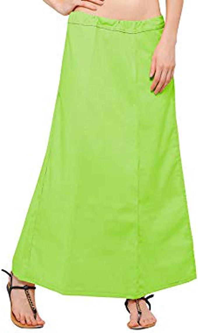 IFH Apparel Falda interior de algodón verde lima con diseño indio ...