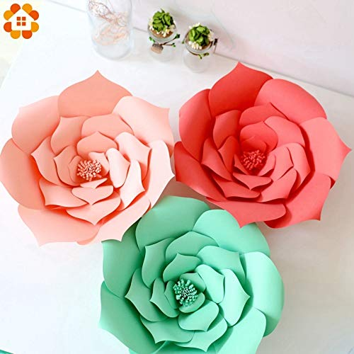Paper Roses Eastere Backdrop 1PCS 40CM Paper Flowers Backdrop Decor for Kids Room Home Garden Wedding Birthday Hen Party Decoration Baby Shower Supplies (Random) from HATABO