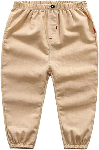 UK 0-5T Kids Boy Girl Cotton Linen Pants Toddler Loose Harem Casual Trousers Hot