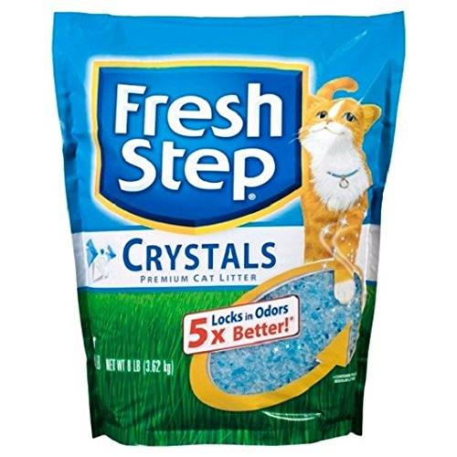 Fresh Step Crystals, Premium, Clumping Cat Litter, Scented, 8 Pounds (8 lb - 6 Packs)