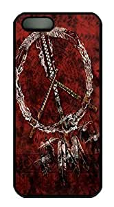Covers Red Pipes Native American Custom PC Hard Case Cover for iPhone 5/5S Black WANGJING JINDA