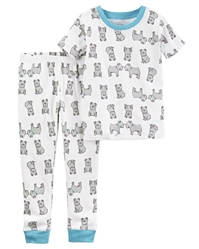 Dog Carters Pajamas - Carter's Baby Boys' Little Planet Organics 2-Piece Cotton Pajamas, Dog, 18M
