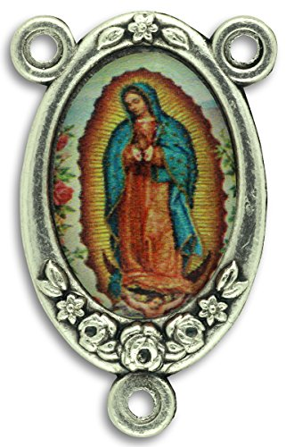 Gifts Catholic, Inc. LOT of 5 - Rosary Center Our Lady of Guadalupe Center Piece Color Image. 1 inch
