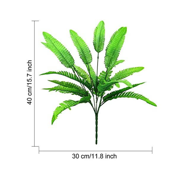 Hicarer-6-Bunches-Artificial-Boston-Ferns-Plants-21-Leaves-Per-Bunch-Fake-Bushes-for-Indoor-Outside-Home-Garden-Wedding-Party-Decor