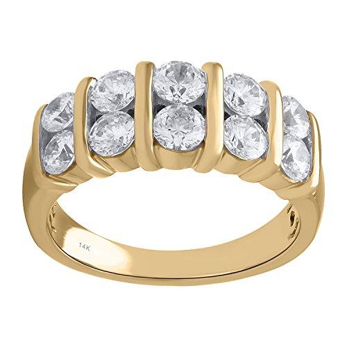 14K Yellow Gold 1 1/2cttw Diamond Anniversary Ring