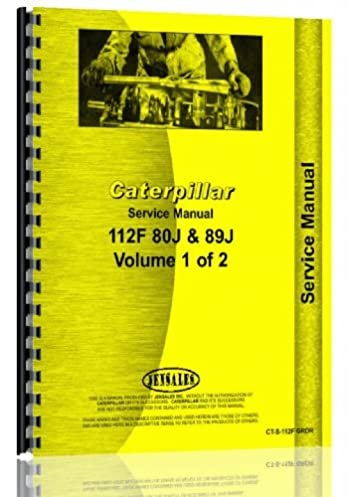 caterpillar 112f grader service manual sn 80j 89j up jensales rh amazon com Caterpillar Engine Service Manual Caterpillar Specifications
