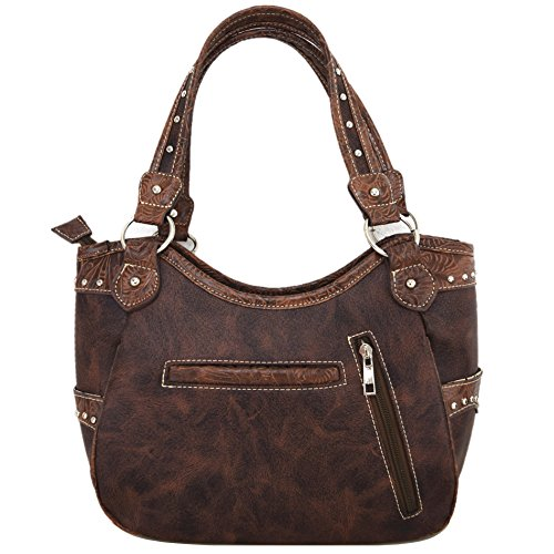 Leather Cowgirl Country Concealed Cut Shoulder Wallet Western Coffee Laser Tooled Bags Handbags Horse Set Purse Sd8WqFw