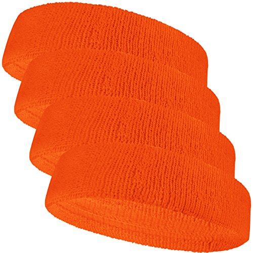 COUVER Baby Infant Orange Terry Solid Color Headband/Terry Cloth Head Band - ()
