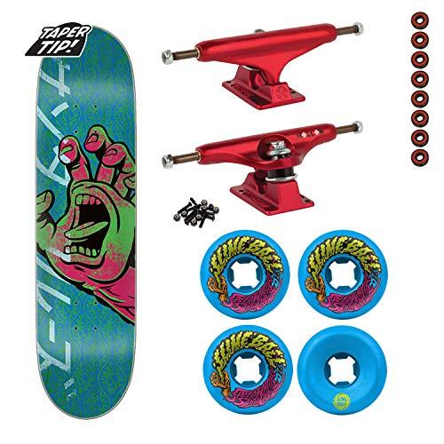 Santa Cruz Skateboard Complete Hand Taper Tip 8.25/Indy Trucks Wheels ()
