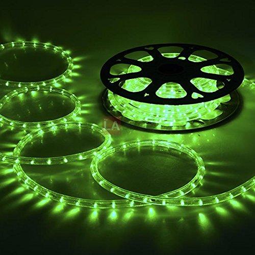MEGA Christmas Lighting LED Rope Light 50ft Green w/ Conn...