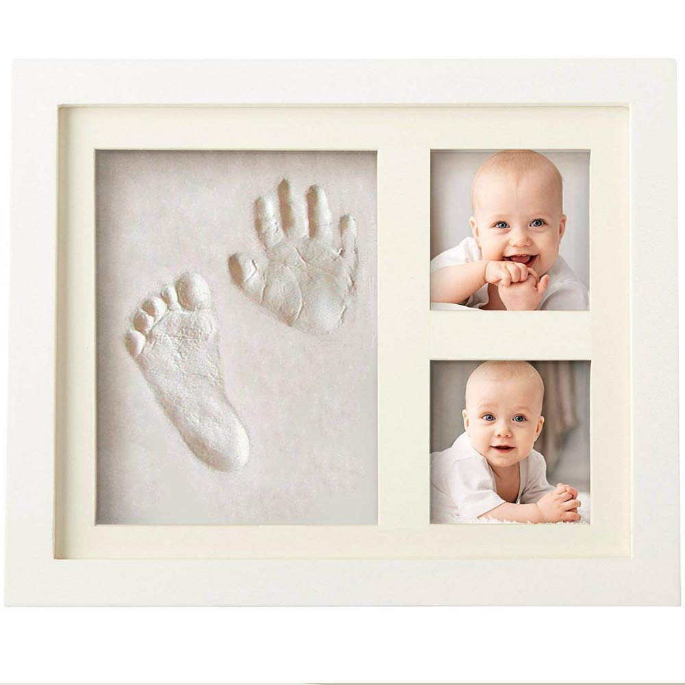 zorvo Baby Handprint Footprint Photo Frame Kit for Newborn Girls & Boys Gift Set for Babys Infant & Kids Personalized Table and Wall Photo Decoration