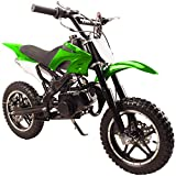 49cc 50cc High Performance Green 2-Stroke Gas Motorized Mini Dirt Pit Bike